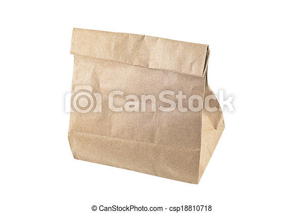 Paper bag on white background, isolated - csp18810718