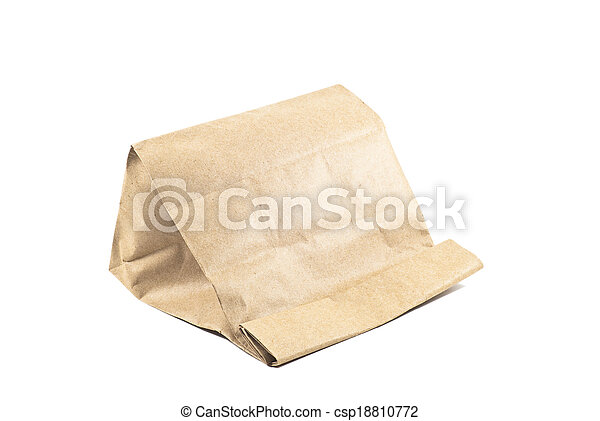 Paper bag on white background, isolated - csp18810772