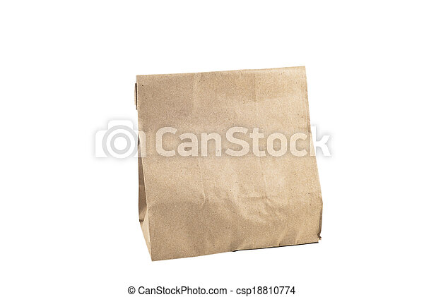 Paper bag on white background, isolated - csp18810774