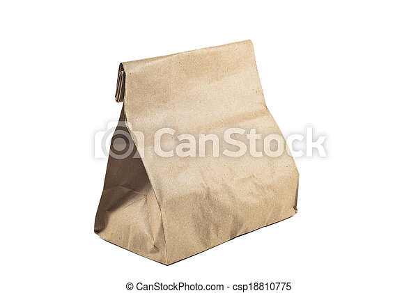 Paper bag on white background, isolated - csp18810775