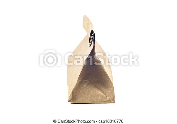 Paper bag on white background, isolated - csp18810776