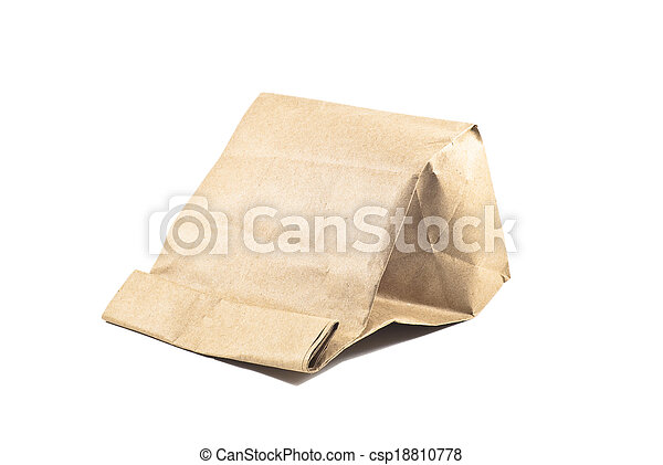 Paper bag on white background, isolated - csp18810778