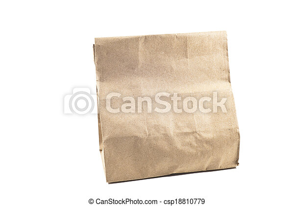 Paper bag on white background, isolated - csp18810779