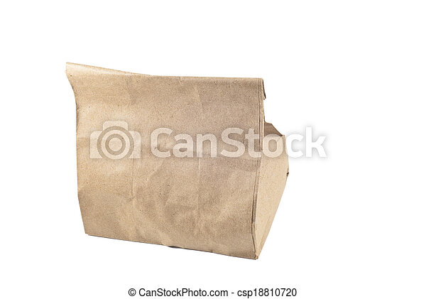 Paper bag on white background, isolated - csp18810720