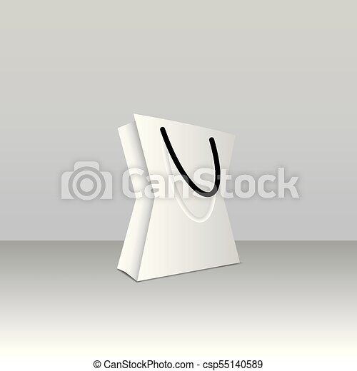paper bag template vector illustration mock up easy to change color