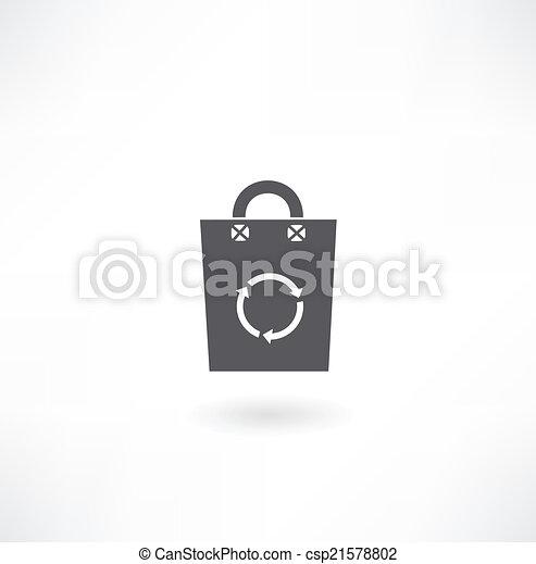 paper bag with arrow icon - csp21578802