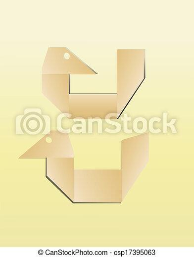paper bird icon - csp17395063