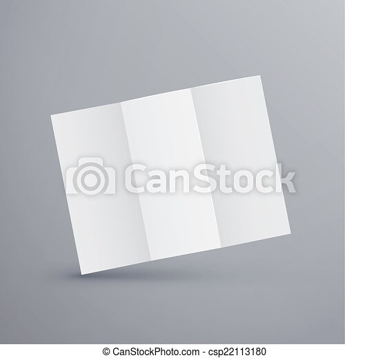 Paper Blank Brochure Template Isolated On Grey Vector Search Clip