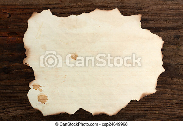 paper blank burnt wood old spots background - csp24649968