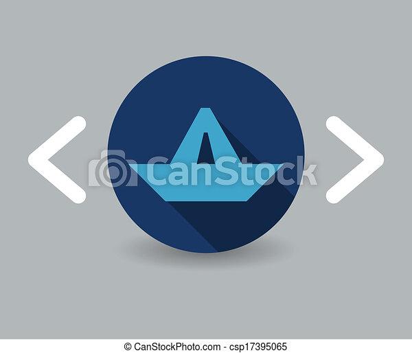 paper boat icon - csp17395065