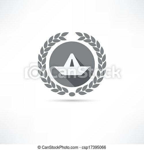 paper boat icon - csp17395066