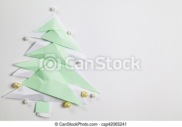 Paper Christmas Tree Origami Cut Out