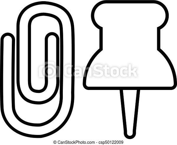 paper clip icon outline line style paper clip icon vector rh canstockphoto ca paper clip vector free download paper clip vector download