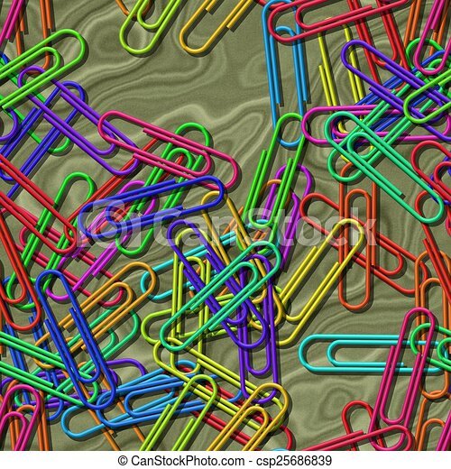 Paper clips seamless generated texture background - csp25686839