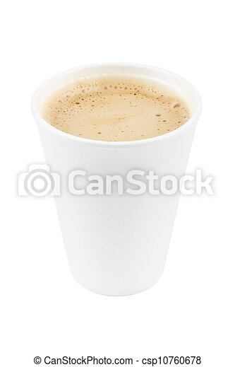 paper coffee cup with coffe - csp10760678