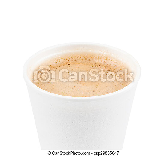 paper coffee cup with coffe - csp29865647