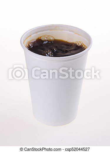 paper coffee cup with coffe - csp52044527