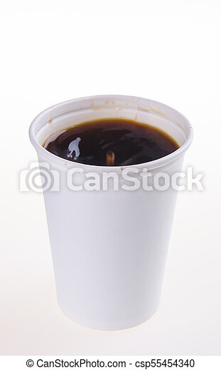 paper coffee cup with coffe - csp55454340