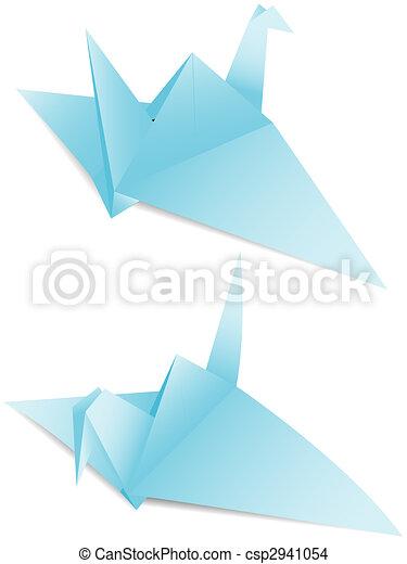 Paper Crane Origami A Symbol Peace In A Vector