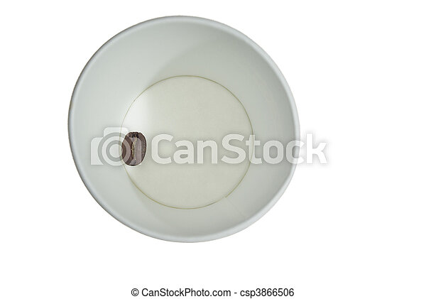 Paper cup with coffee seed - csp3866506