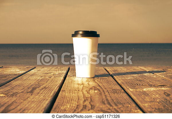 Paper cup with coffee - csp51171326