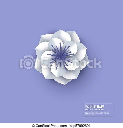 Paper Cut Flower White Color