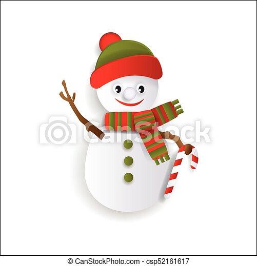 paper cut snowman christmas decoration element csp52161617