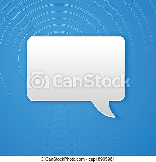 Paper Cut Speech Bubble Background. Vector Illustration - csp18905981