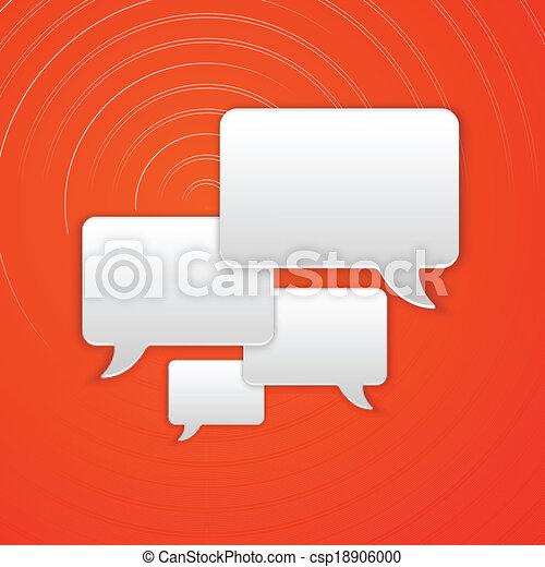 Paper Cut Speech Bubble Background. Vector Illustration - csp18906000