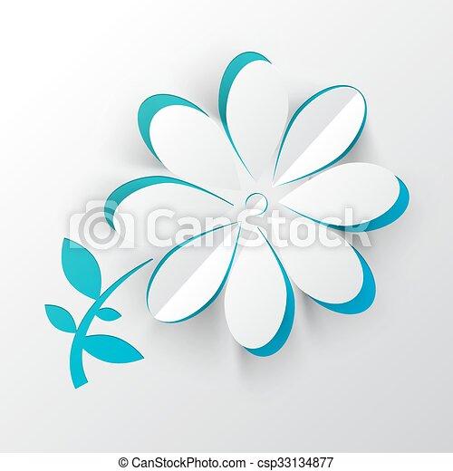 Paper Cut Vector Flower - csp33134877
