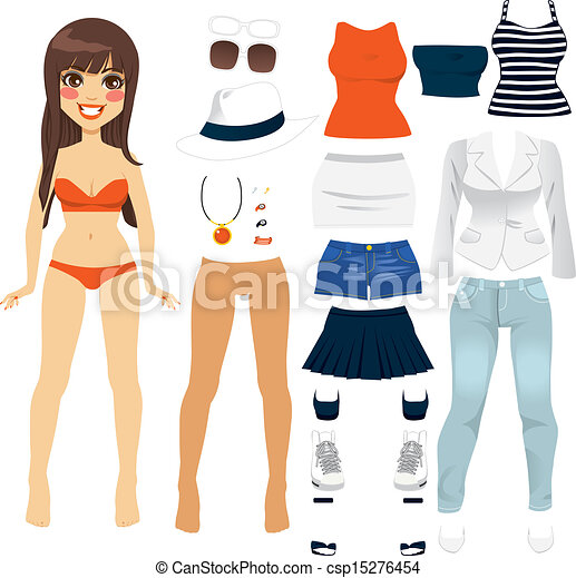 Paper Doll Women Clothing - csp15276454