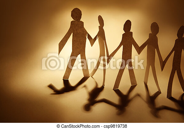 Paper Dolls Doll Cutouts Holding Hands