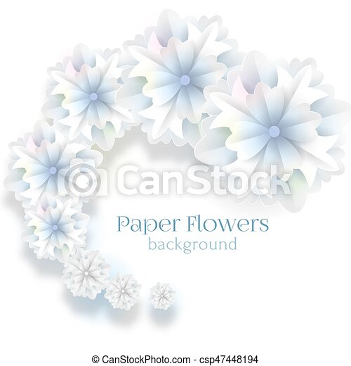 Paper flower background vector illustration white paper flowers paper flower background vector illustration mightylinksfo