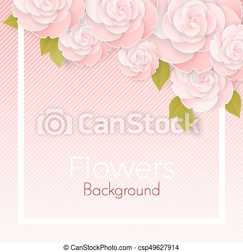 Paper flower realistic style illustration of pink roses paper paper flower realistic style illustration of pink roses mightylinksfo