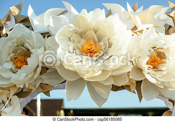 Paper Flowers In Wedding Decor Luxury Wedding Decorations For Ceremony Wedding Arch With Flowers