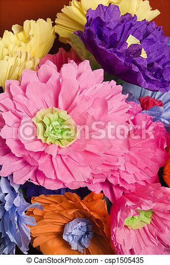 Paper flowers colorful paper flower bouquet paper flowers csp1505435 mightylinksfo