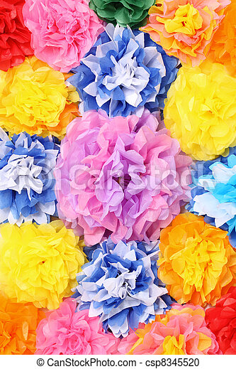 Paper flowers handmade artificial paper flowers background paper flowers csp8345520 mightylinksfo