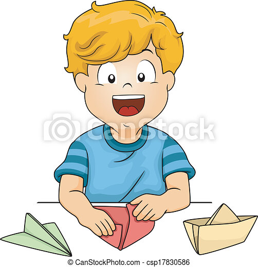 Child getting dressed clipart