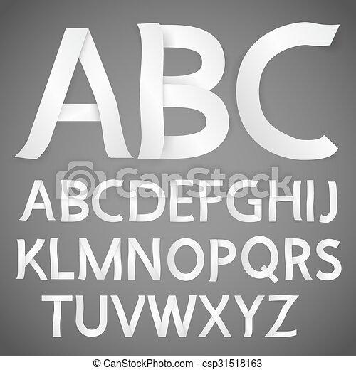 Paper font - csp31518163