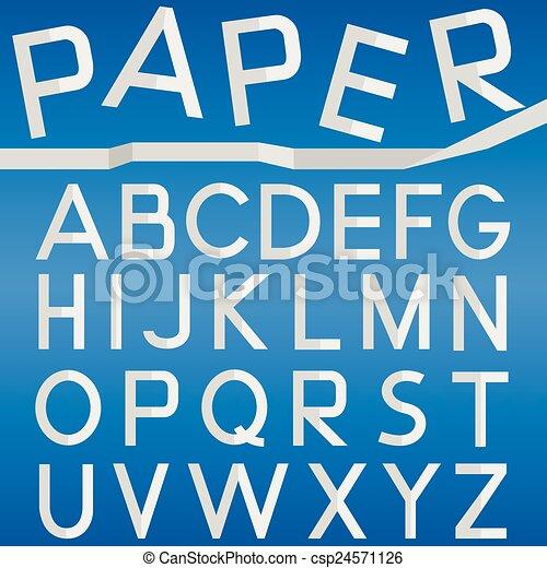 Paper font - csp24571126
