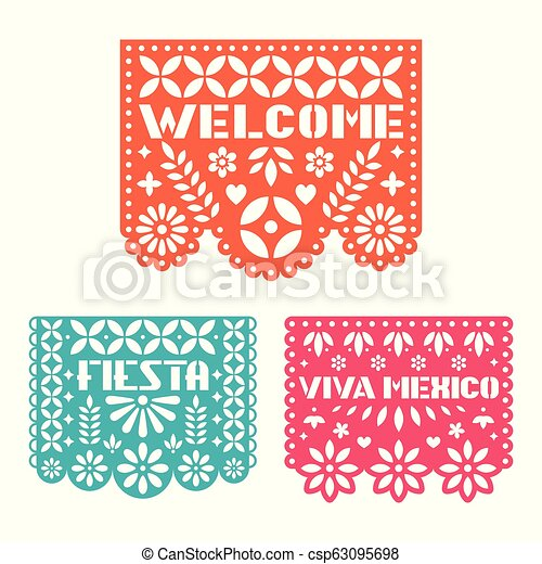 Paper Greeting Card With Cut Out Flowers Shapes And Text