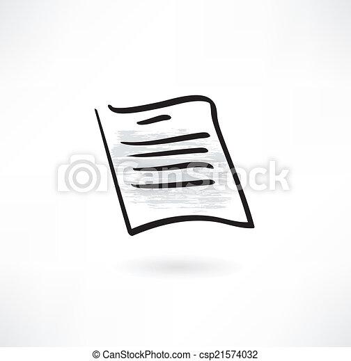 paper grunge icon - csp21574032