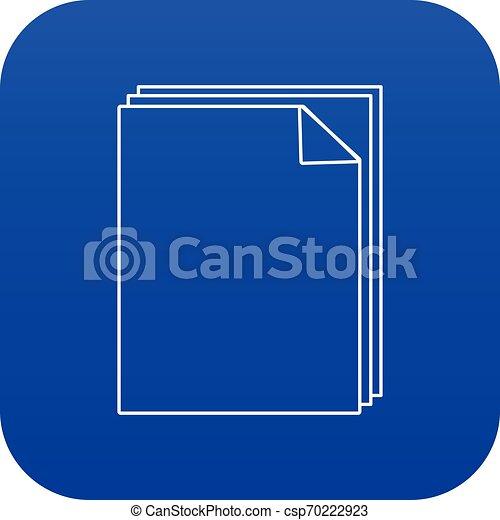Paper icon blue vector - csp70222923