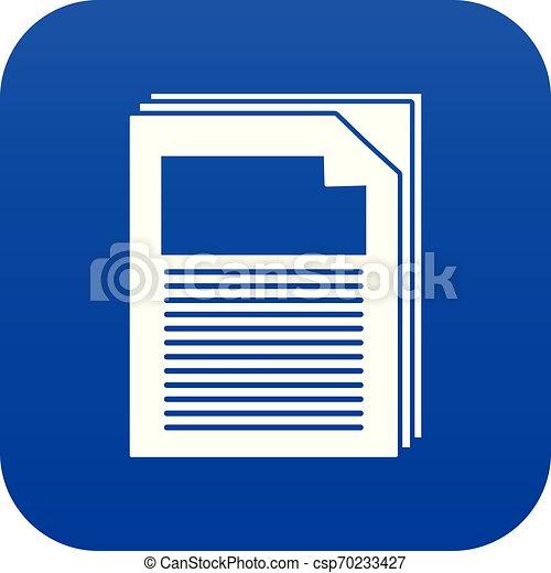 Paper icon blue vector - csp70233427