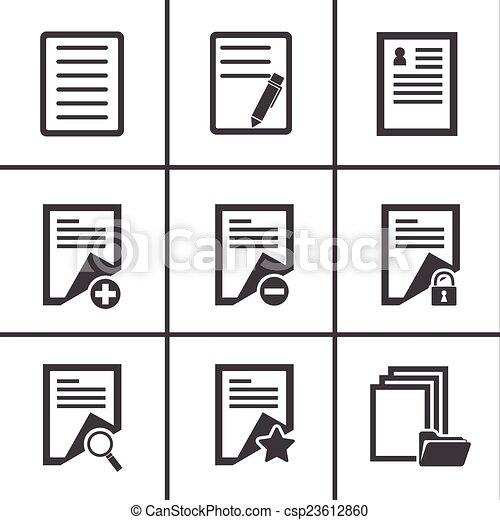 paper icon - csp23612860