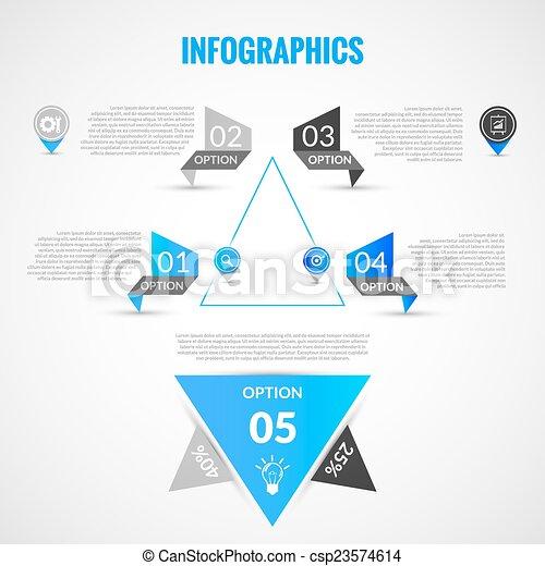 Paper infographics template - csp23574614