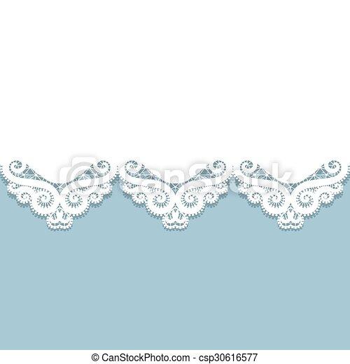 paper lace border - csp30616577