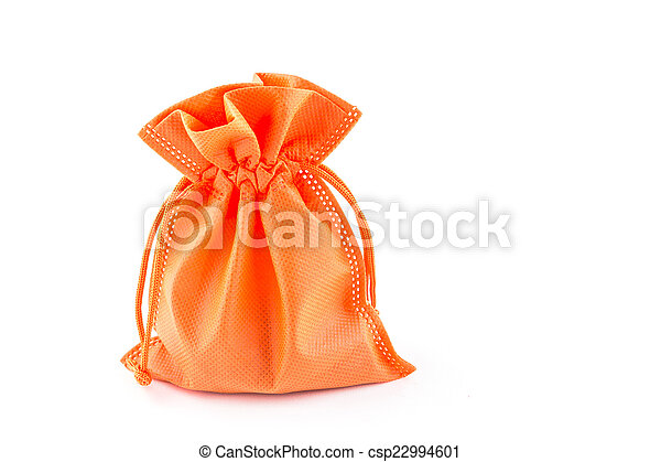 paper money bag isolated on white background - csp22994601