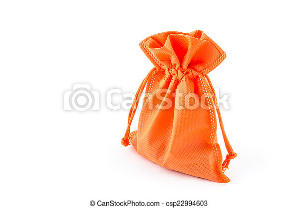 paper money bag isolated on white background - csp22994603