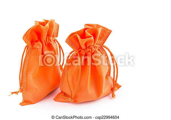 paper money bag isolated on white background - csp22994604